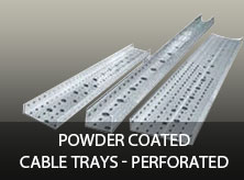 Powder Coated Cable Trays - Perforated