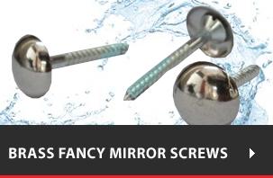 Brass Fancy Mirror Screws