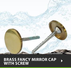 Brass Fancy Mirror Cap