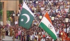 Flag India Pakistan Border