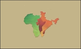 Map Of India And Africa.India Africa Looking At Deeper Political Economic Engagement