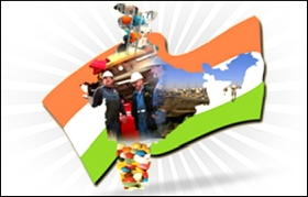 industry india map flag