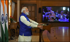Modi on Video Conferencing