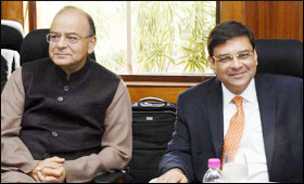 Arun Jaitley and Urjit Patel