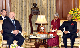 Alexander Lukashenko and Ram Nath Kovind