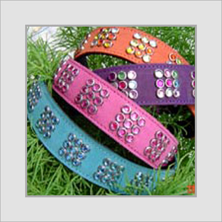 Dog Collars With Square Gems