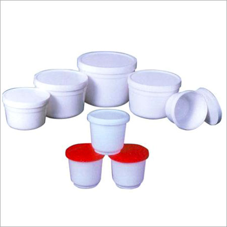 Plastic Thread & Push Lid Type Container