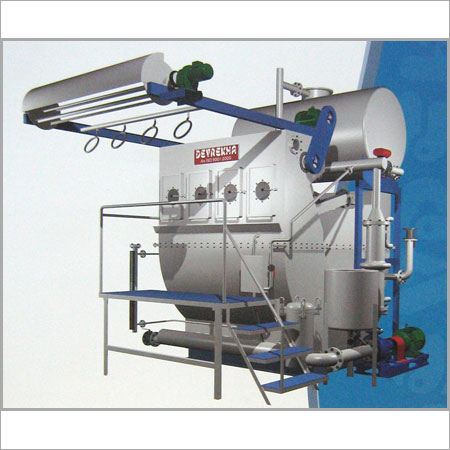 Fabric Dyeing Machine With Caustic Recovery System