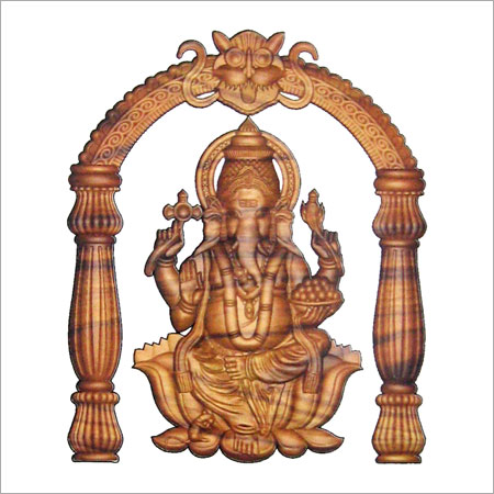 ganesh wood carving