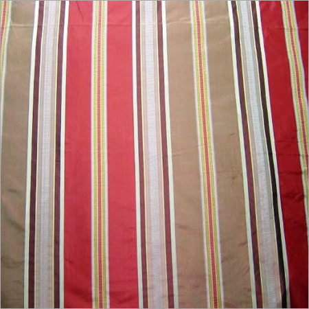 Silk Taffeta Dobby Striped