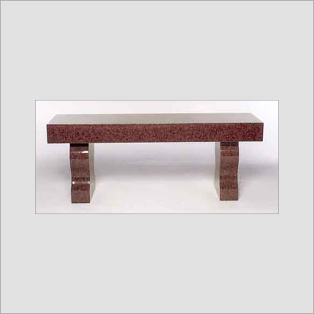 RED POLISHED GRANITE BENCH
