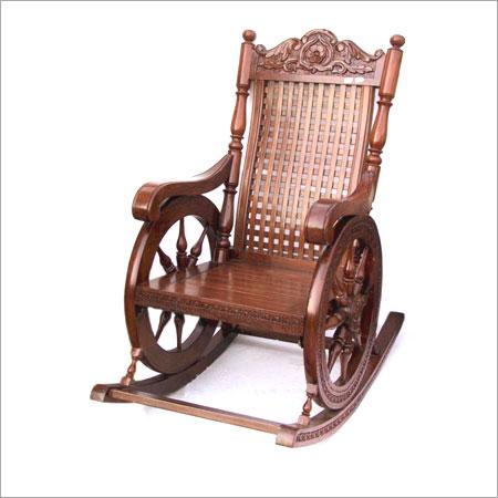 Wooden rocking chair in saharanpur uttar pradesh india for Small wooden rocking chair for crafts