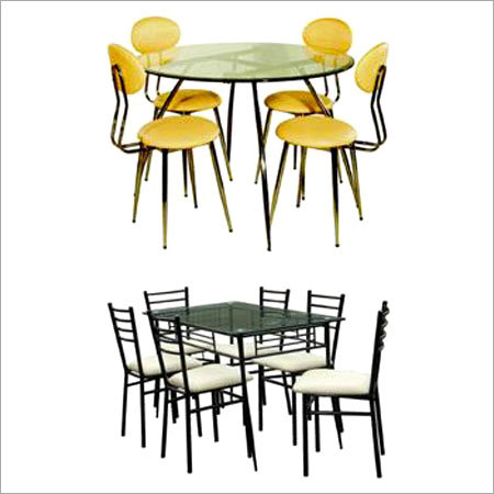 STEEL DINNING TABLE WITH CHAIR