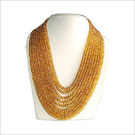 Citrine Faceted Beads Necklace