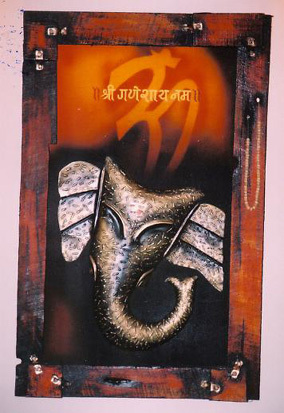 ABSTRACT GANESHA PAINTING