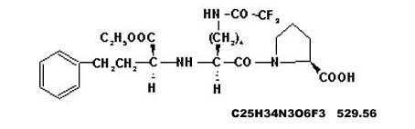 N2- (1-(S)-ethoxycarbonyl-3-phenylpropyl)-N6-trifluoroacetyl-L-lysine-L-proline (for lisinopril)
