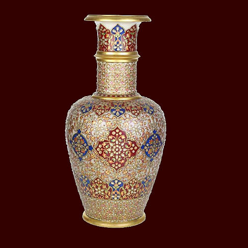 Marble Gold Painting Vase