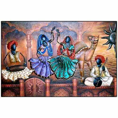 Wall paintings in mumbai maharashtra india s k for 3d clay mural painting