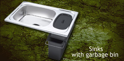 Sink With Garbage Bin
