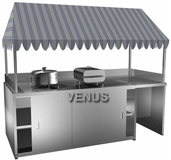 Steel Banquet Service Counter