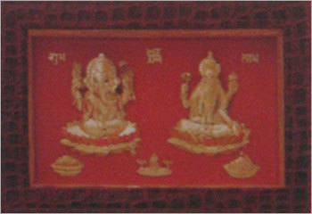GANESH JI LAXMI JI PHOTO FRAME