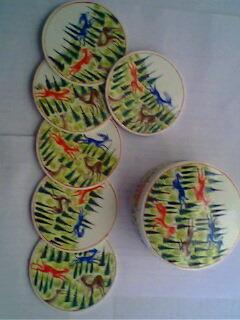 Papier Machie Coaster Set