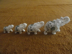 White Marble Elephant with Family