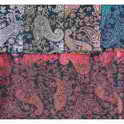 Foil Based Paisley Printed Fabric