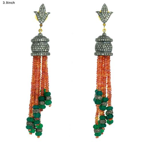 Sapphire Tassel Earring