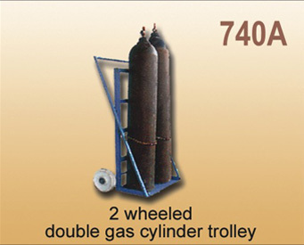 2 Wheeled Double Gas Cylinder Trolley