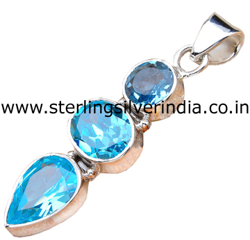 9 Grams Blue Topaz Pendants