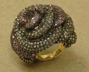 Handmade Rose Diamond Ring