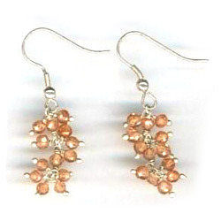 CZ Orange Earrings