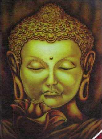 Lord buddha wall murals in mumbai maharashtra india for Buddha mural art