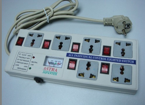6 Way Extension Socket With Light Indicator