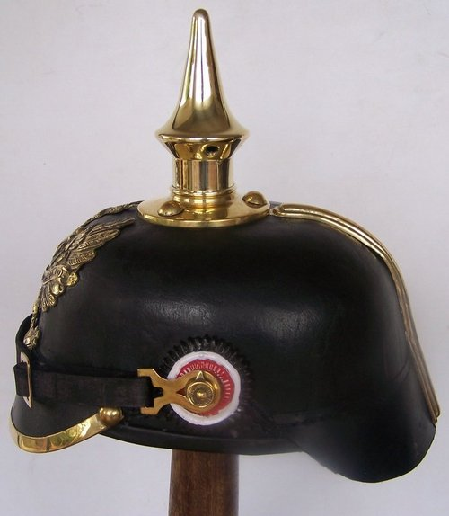 German Leather Pickelhaube