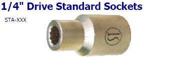 1-4 inch Drive Standard Sockets