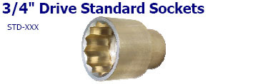 3-4 inch Drive Standard Sockets