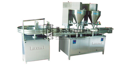 Automatic Double Head Auger Powder Filling Machine Model No. : LAPF - 80