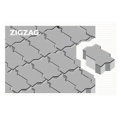 Zig Zag Concrete Paver Block
