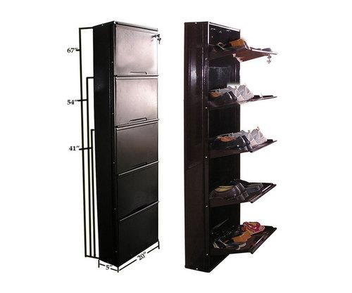 3 Compartmet Shoe Rack Wall Mount Ebay