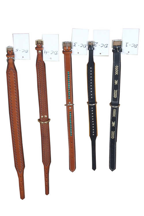 Western Carven and Tooling Dog Collars