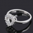 Brilliant Heart Shaped Cz Ring With 12 Small Round Zircon