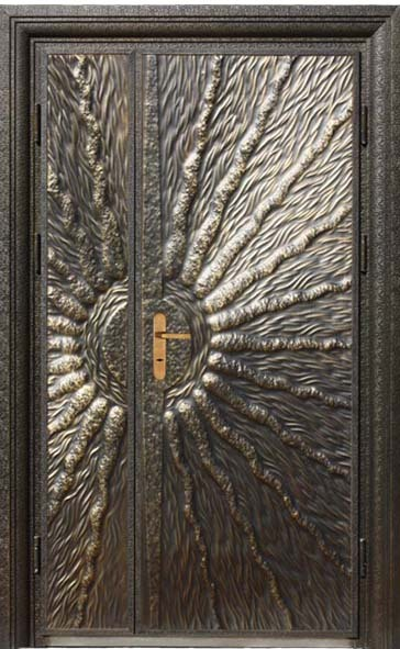 Luxury Copper Carved Security Entry Door