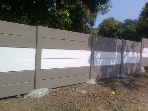 Compound Wall Design Pattern : Compound wall in mangrol gujarat india trilok cement