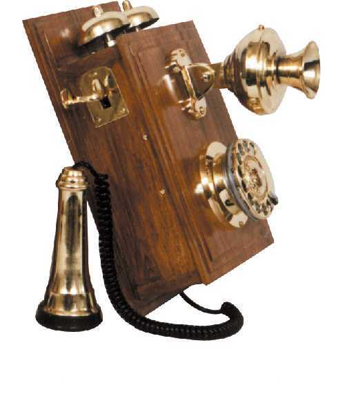 Wooden Base Telephone