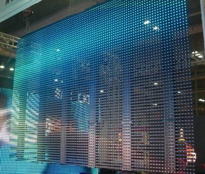 Flexible led curtain p12 5 in shenzhen guangdong china elnor
