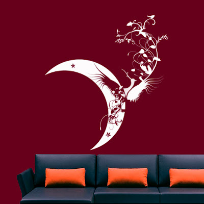 Indian wall decals moon living room wall decals in mumbai maharashtra