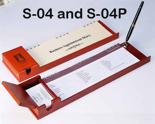 Desk Top Diary And Namecard Holder With Pen-Stand