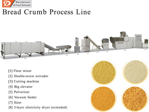 Bread Crumb Machine Artificial Rice Machine Processing Line